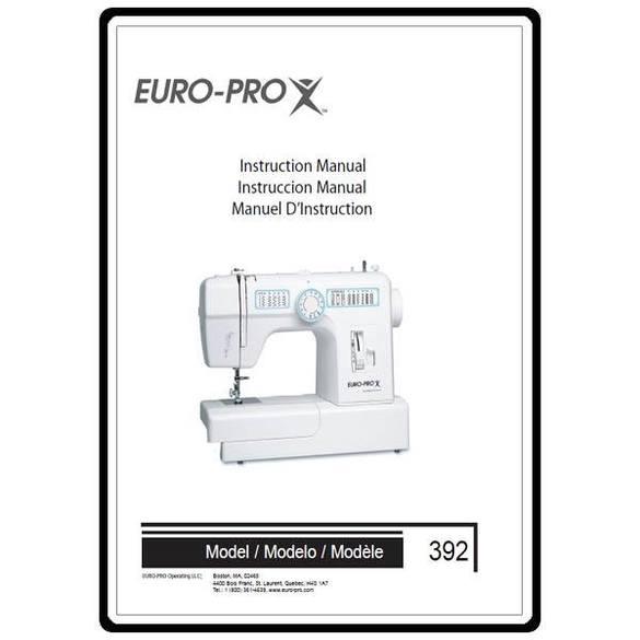 Instruction Manual, Euro Pro 392