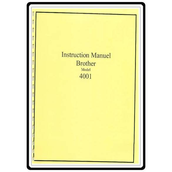 Instruction Manual, Brother 4001