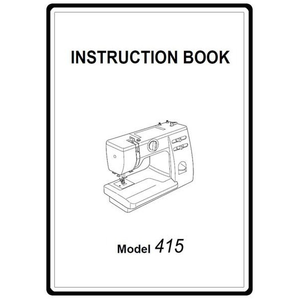 Instruction Manual, Janome 415