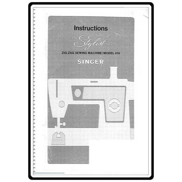 Instruction Manual, Singer Stylist 416