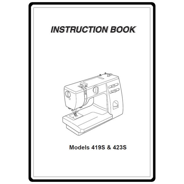 Instruction Manual, Janome 419S