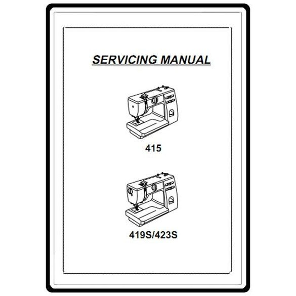 Service Manual, Janome 419S