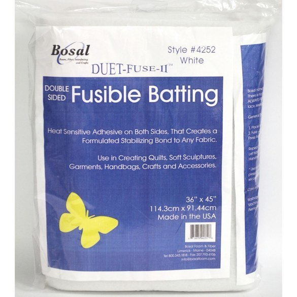 "Duet Fuse II, Double Sided Fusible Batting - 36"" x 45"""
