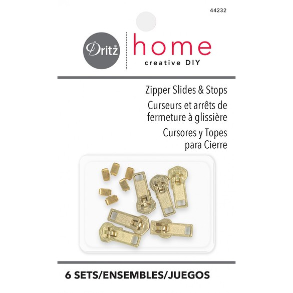 Dritz Zipper Slides & Stops - 6pk