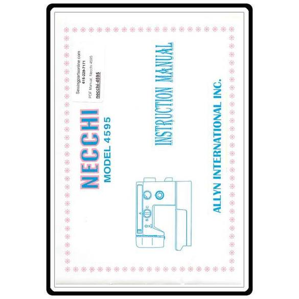 Instruction Manual, Necchi 4595