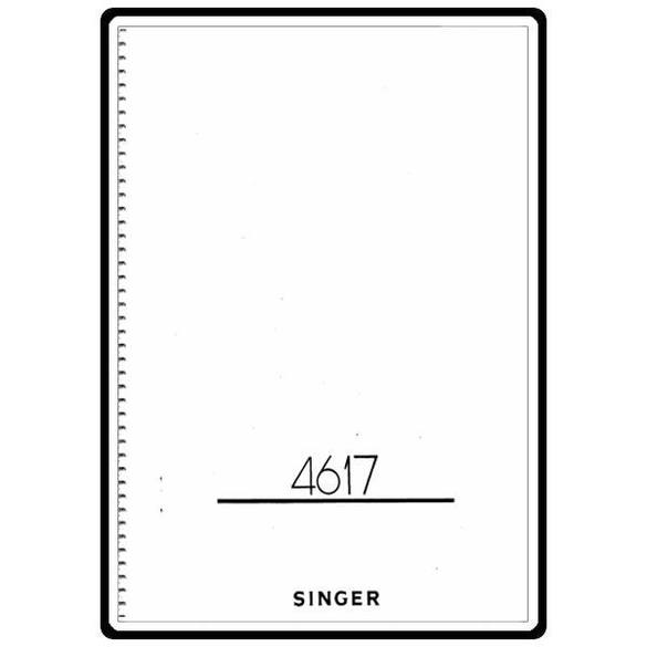 Instruction Manual, Singer 4617