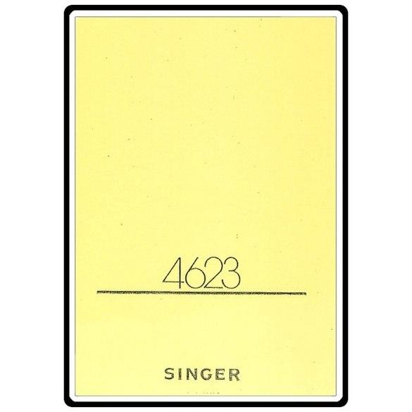Instruction Manual, Singer 4623