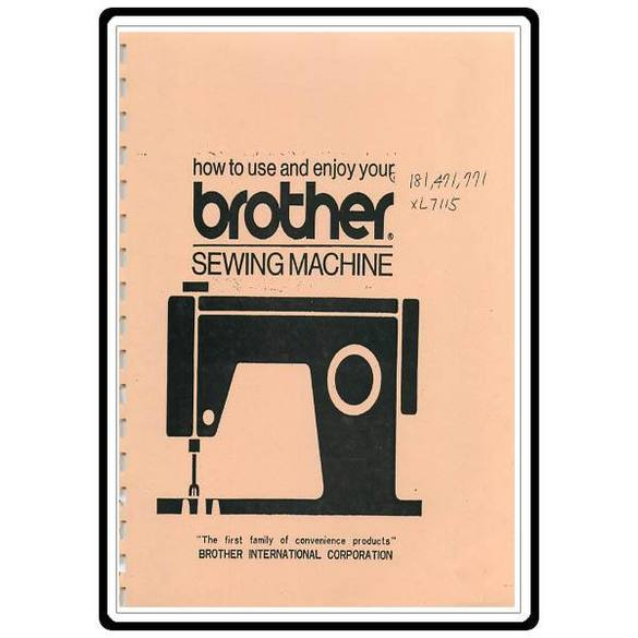Instruction Manual, Brother 471