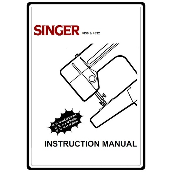 Instruction Manual, Singer 4830