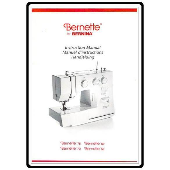 Instruction Manual, Bernette 50