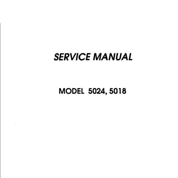 Service Manual, Janome 5018