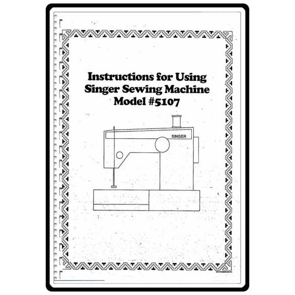 Instruction Manual, Singer 5123