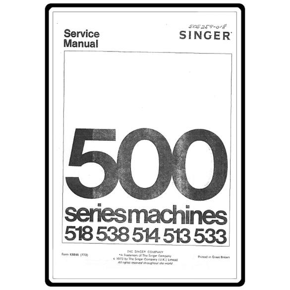 Service Manual, Singer 533 Stylist