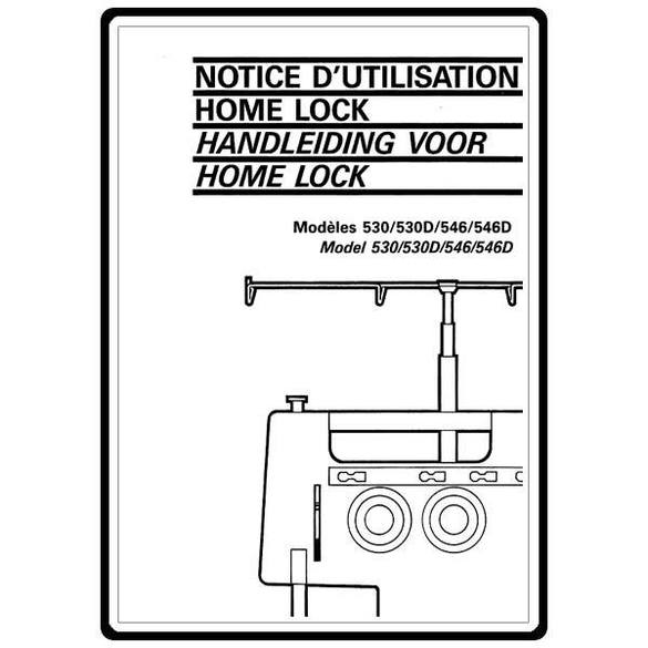 Instruction Manual, Brother Home Lock 546D