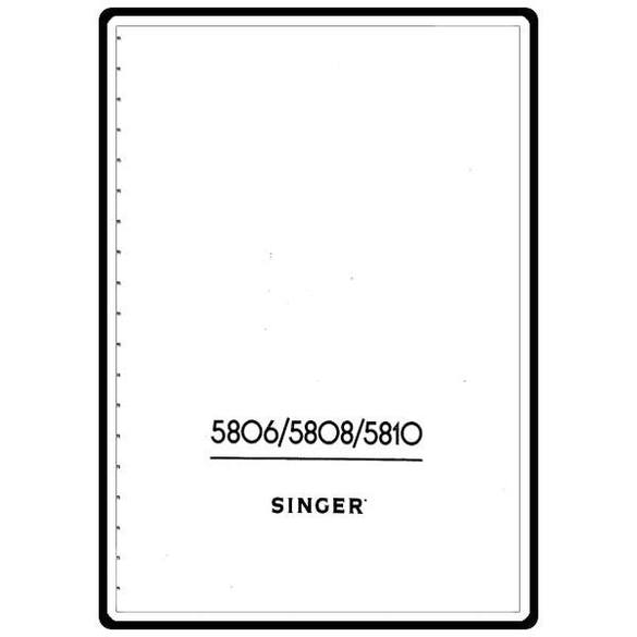 Instruction Manual, Singer 5802