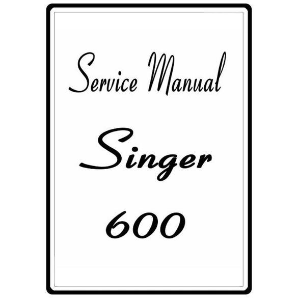 Service Manual, Singer 600