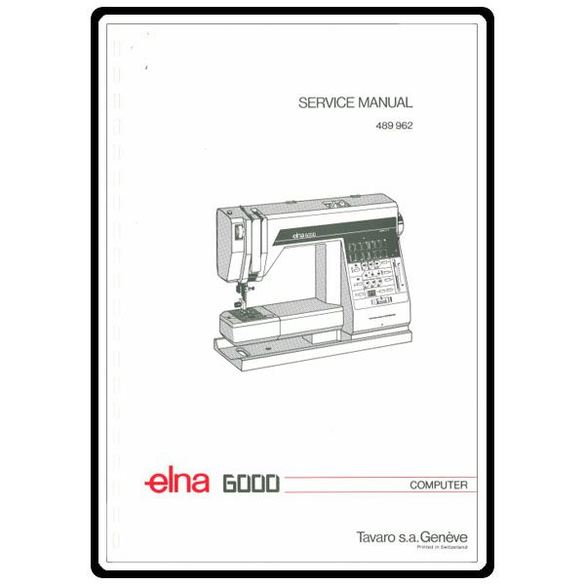 Service Manual, Elna 6000