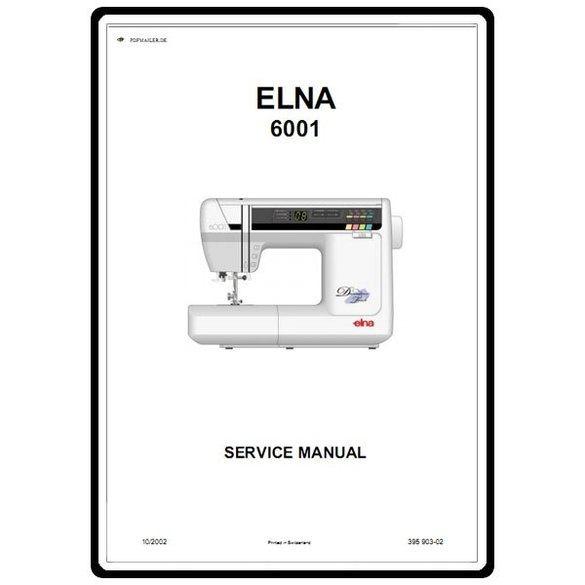 Service Manual, Elna 6001