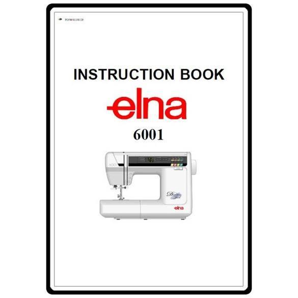 Instruction Manual, Elna 6001