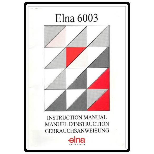 Instruction Manual, Elna 6003