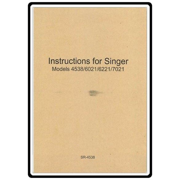 Instruction Manual, Singer 6021