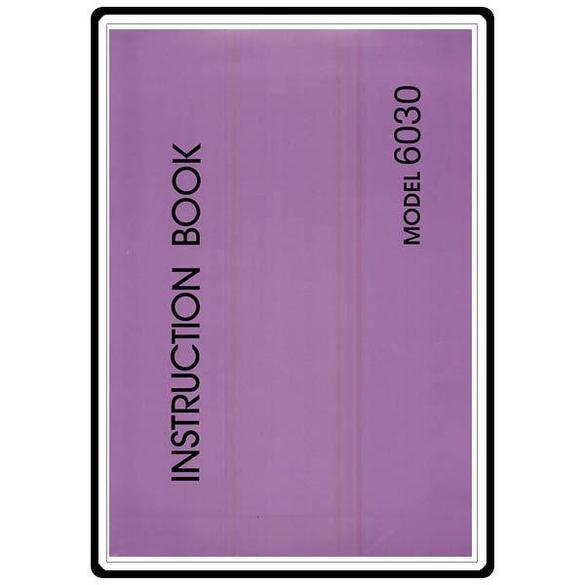 Instruction Manual, Necchi 6030