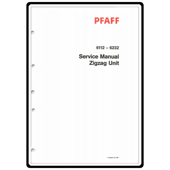 Service Manual, Pfaff 6112