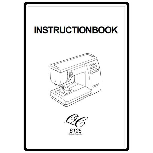 Instruction Manual, Janome 6125QC