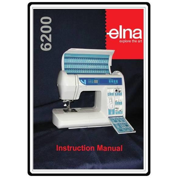 Instruction Manual, Elna 6200