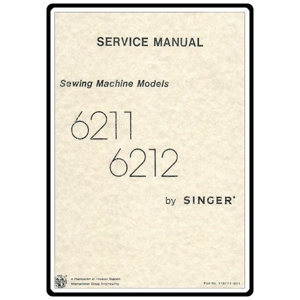 Service Manual, Singer 6212