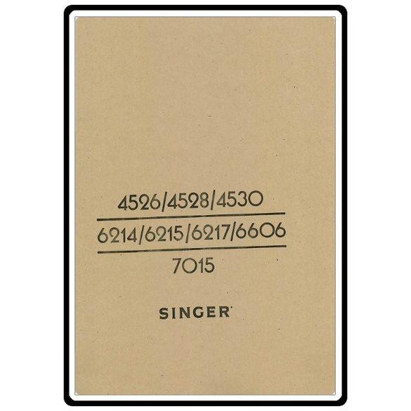 Instruction Manual, Singer 6606