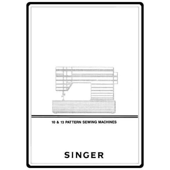 Instruction Manual, Singer 6230