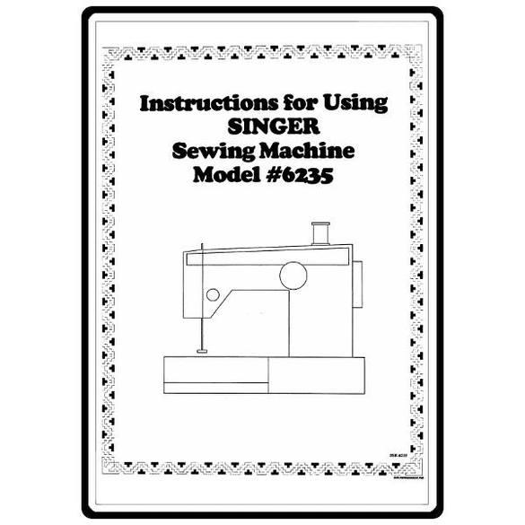 Instruction Manual, Singer 6235