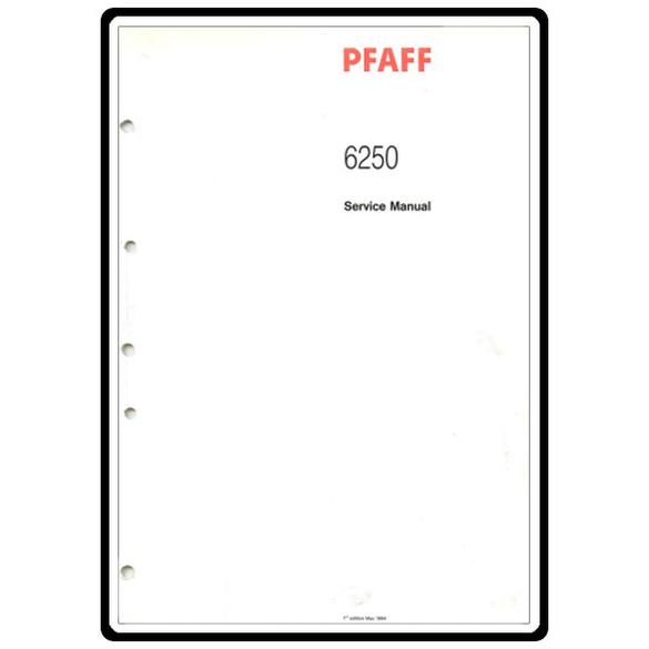 Service Manual, Pfaff 6250