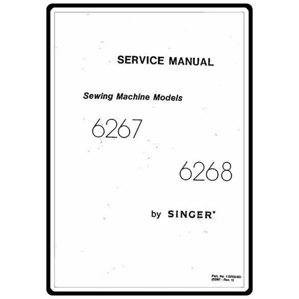 Service Manual, Singer 6267