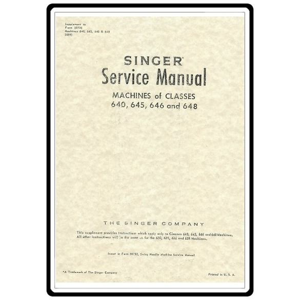 Service Manual, Singer 640