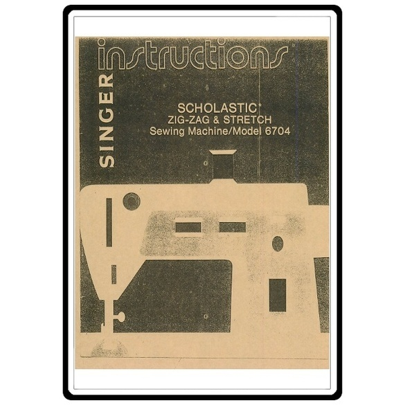 Instruction Manual, Singer 6705