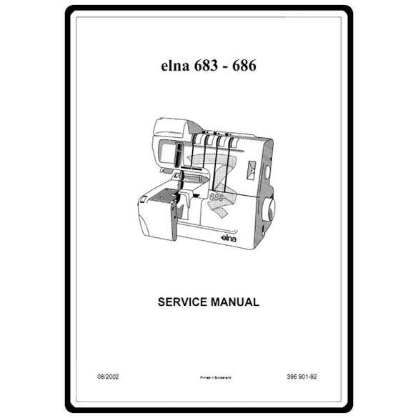 Service Manual, Elna 683