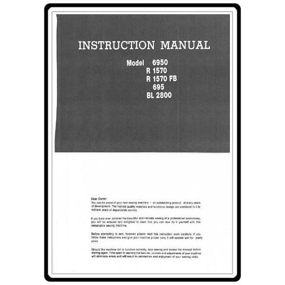 Instruction Manual, Riccar 1570