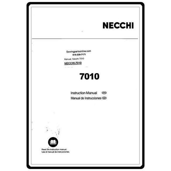 Instruction Manual, Necchi 7010