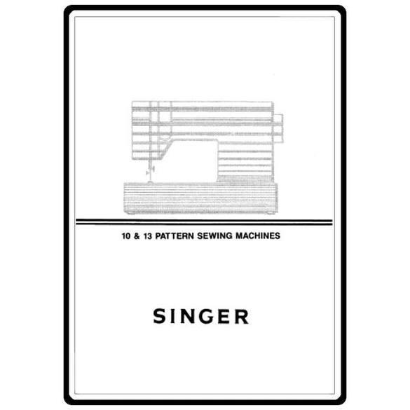 Instruction Manual, Singer 7037