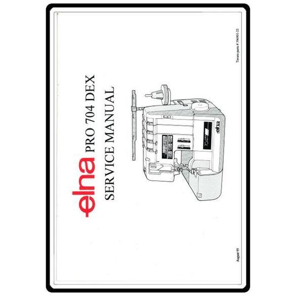 Service Manual, Elna 704