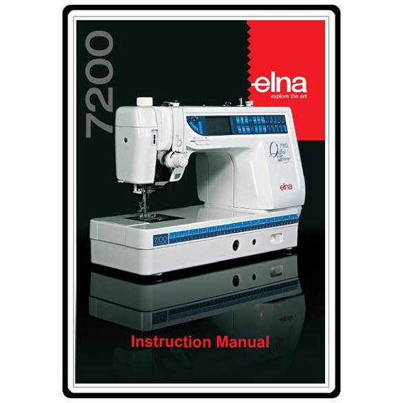 Instruction Manual, Elna 7200