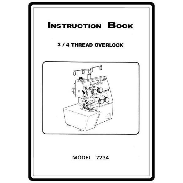 Instruction Manual, White 7234