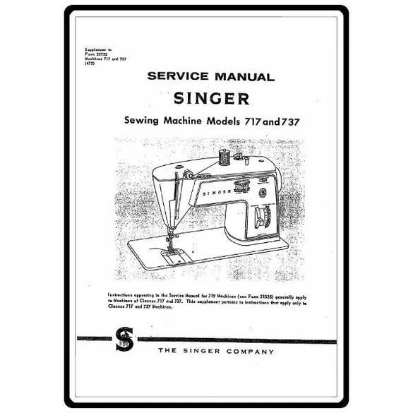 Service Manual, Singer 737