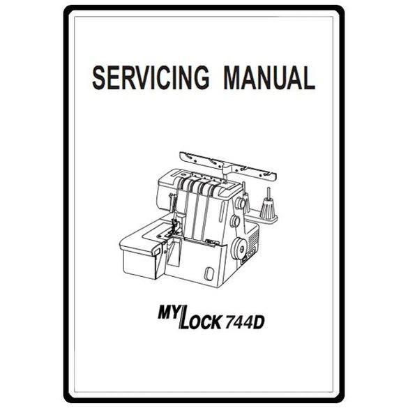Service Manual, Janome 744D