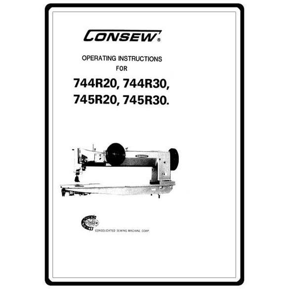 Instruction Manual, Consew 744R30