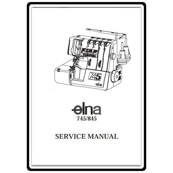 Service Manual, Elna 745