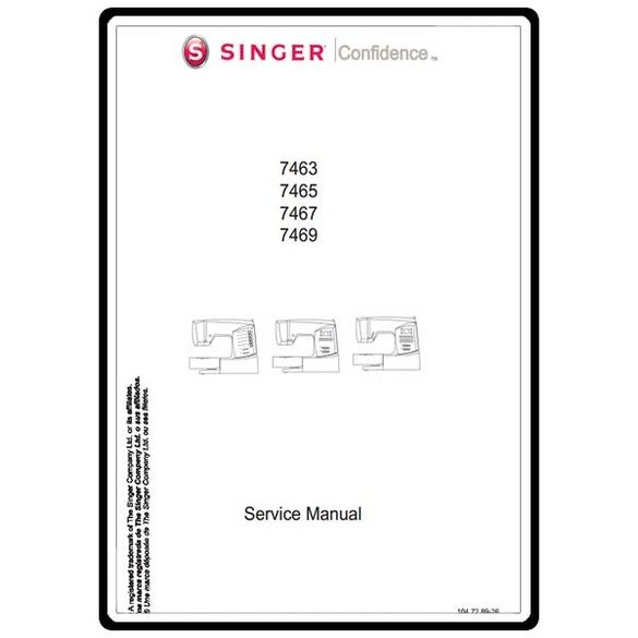 Service Manual, Singer 7465