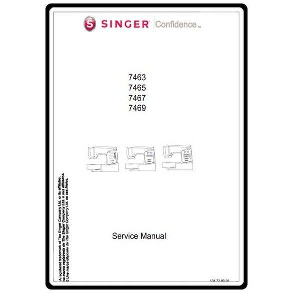 Service Manual, Singer 7467 Confidence